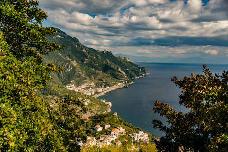 view of the coastline on the Amalfi coast, Italy Stock Photo