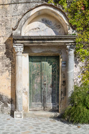 Old rusy door in Ravello, on the Amalfi Coast, Italy