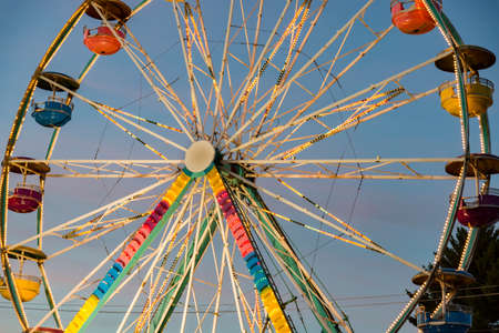 Detail of the big wheel at Freyburg Fair in Maine, USA Stock Photo