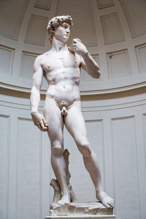 David by Michelangelo inside the Accademia, Florence, Italy