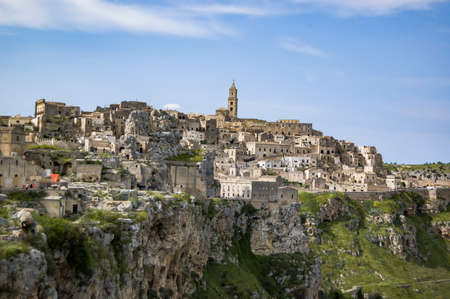 panoramic view of the UNESCO site of Matera, Basilicata, Italy Stock Photo