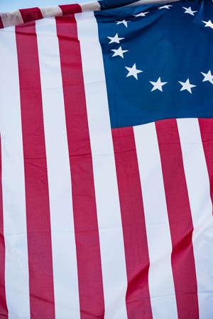 American 13 stars historic flag often named the Betsy Ross flag,
