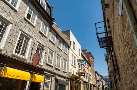 Typical buildings in the old district in Quebec City, Canada