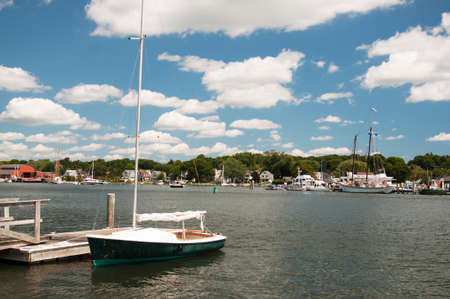 Mystic Seaport, is an outdoor recreated 19th century village and educational maritime museum. Visitors will find a lighthouse replica of Brant Point Light.