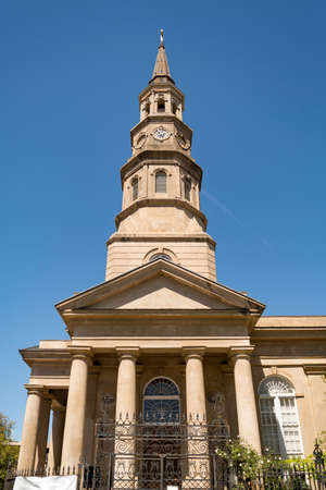 Tower bell of St. Phillips Church in Charleston, South Carolina Stock Photo