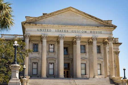 Facade of the United States Custom House, Charleston, SC