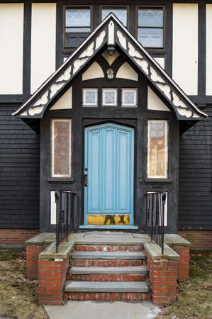Front Door of a New England house in Portsmouth, New Hampshire
