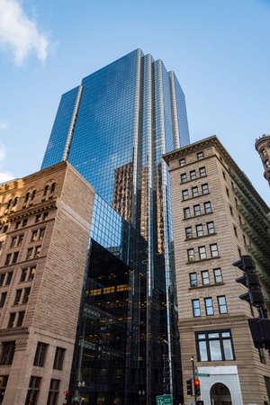 Modern buildings in the city of Boston, Massachusetts USA