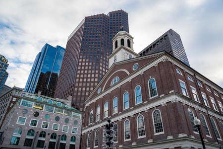 Historical buildings in downtown Boston, Massachusetts. 版權商用圖片