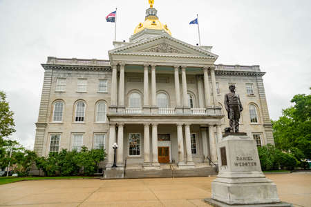 New Hampshire State House capitol building in Concord NH. Stock Photo