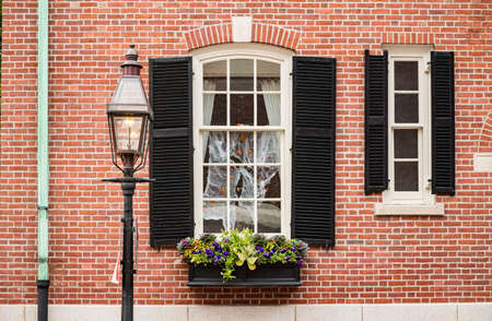 View of a Historical exterior building in downtown Boston MA, USA