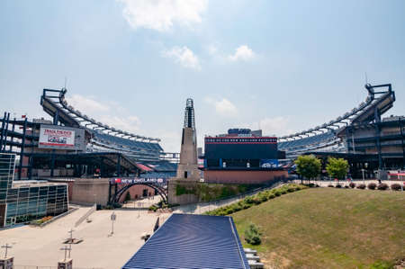 FOXBORO, MA - AUGUST 4: Gillette Stadium, home of the New England Patriots on August 4, 2012. It is located 21 miles southwest of Boston and 20 miles from Providence, Rhode Island.