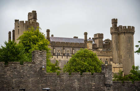 The old and famous Arundel Castle in Sussex region in Great Britain
