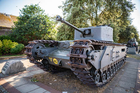The Churchill tank was the primary battle tank of the UK army and Western Allies from 1942-45. Portsmouth UK. Editorial