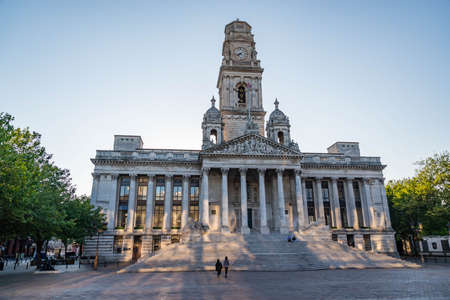 PORTSMOUTH, UK - JULY 19 2015: Portsmouth Guildhall building in Guildhall Square Southsea Portsmouth England Editorial