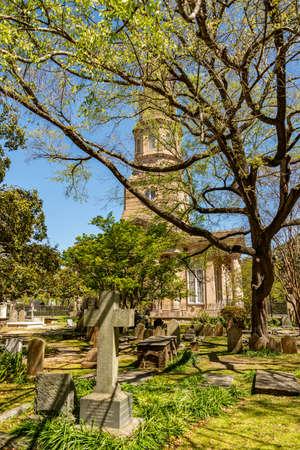 Cemetery near St. Phillips Church in Charleston, South Carolina Archivio Fotografico