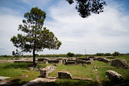 Venosa, Italy. The ruins of a medieval cathedral remained unfinished, in the Basilicata region.