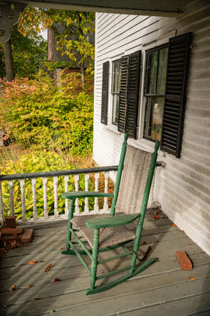 Rocking Chairs on the Porch in New England house