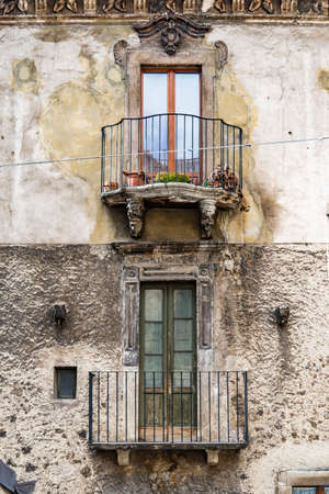 pictorial old buiding of Italian villages in Abruzzi, Italy