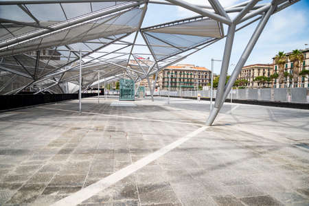 The New Central station railroad in Naples on March 30. 2017 in Italy