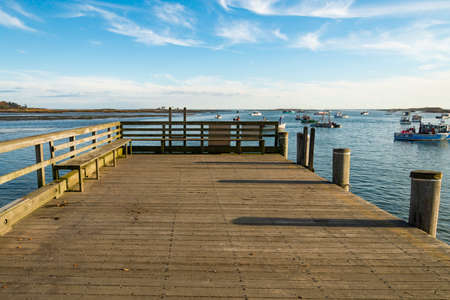 fishing pier in Cape Porpoise, Maine. USA