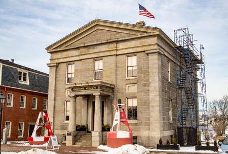 Buildin and streets of Newburyport in Massachussets