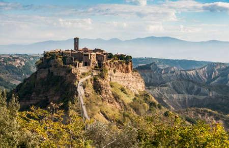 View of the village of Civita di Bagnoregio, Lazio, Italy Stock Photo
