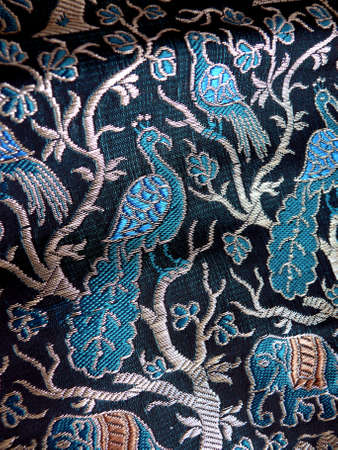 detail of an indian pillow cover
