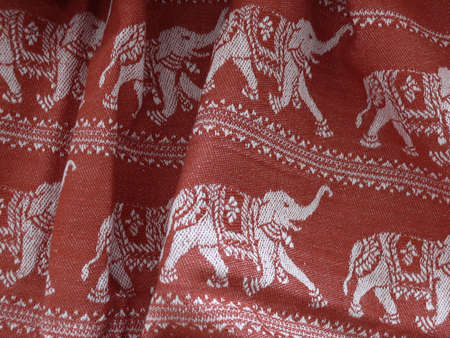 detail of an indiancotton blanket