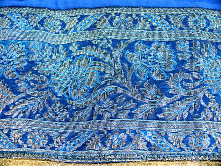 gestickt: Detail bestickt indische Tuch Lizenzfreie Bilder