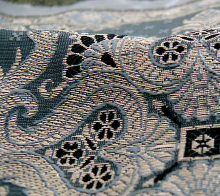 detail of a embroidered indian cloth Stock Photo