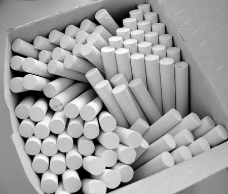 a close-up on a box of chalk Stock Photo - 819967