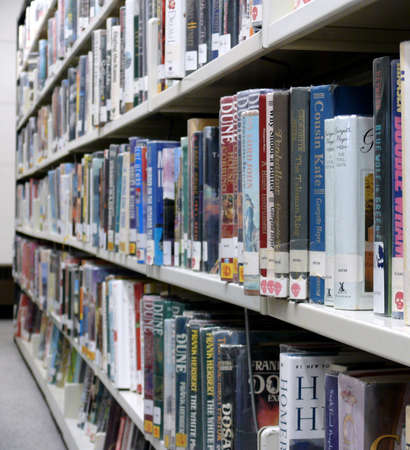 books in a public library