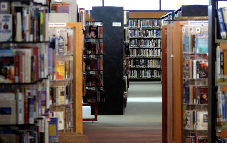 inside a public library Stock Photo