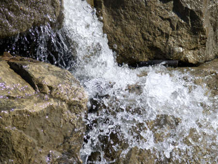 detail of small waterfalls Stock Photo
