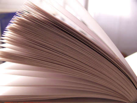 close-up on the pages of a journal Stock Photo
