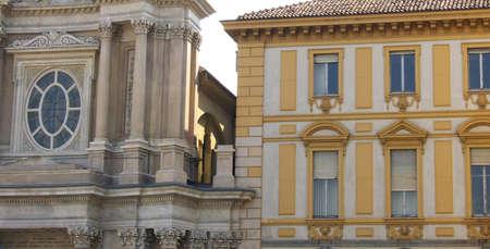 buildings in piazza san carlo, torino, italy