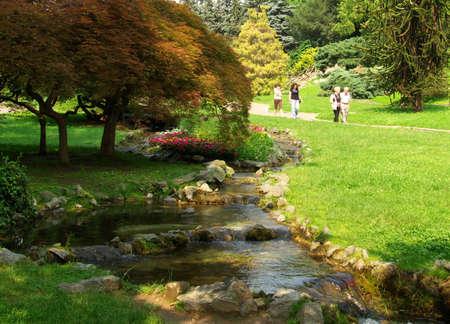 a city park in torino, italy