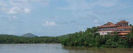 touristic resort in kerala, south india Stock Photo