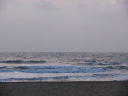 The beach at Madras in south India early morning Stock Photo