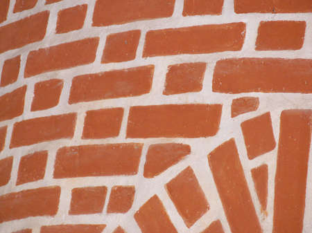 detail of house interior with exposed bricks Stock Photo