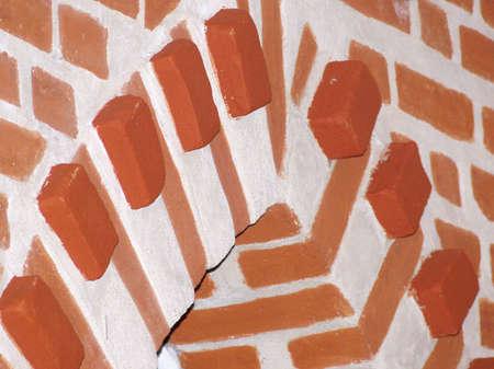 arc in building interior with exposed bricks Stock Photo