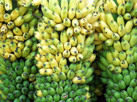 bananas for sale in an indian market Stock Photo
