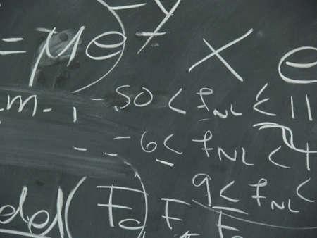 computations on a blackboard in a university