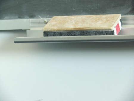close-up of blackboard eraser Stock Photo