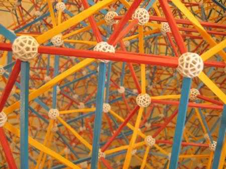 close-up on 3D geometric model Stock Photo