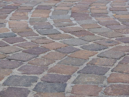 limestone pavement in italian piazza
