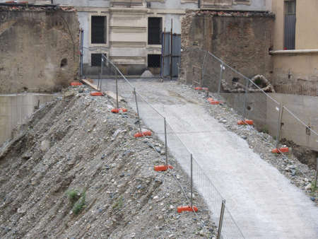ramp in constructions site