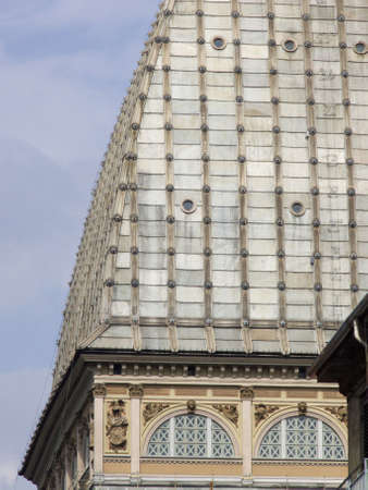 roof of Mole Antonelliana in Torino Italy