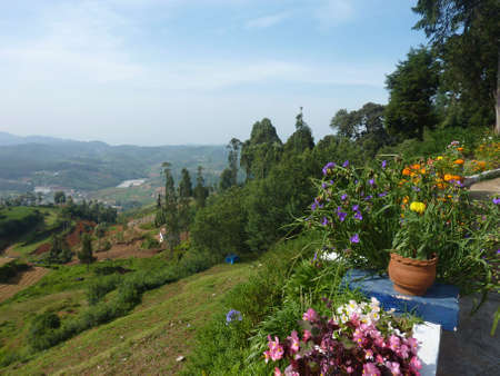View from a hill near Ooty in South India